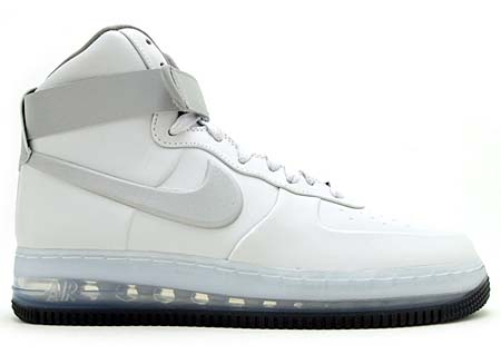 NIKE NIKE AIR FORCE 1 HIGH LUX MAX AIR '08 QS [WHITE/METALLIC SILVER] 317809-100 画像