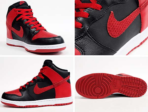 NIKE DUNK HIGH [BLACK/SPORT RED/WHITE] 317982-051