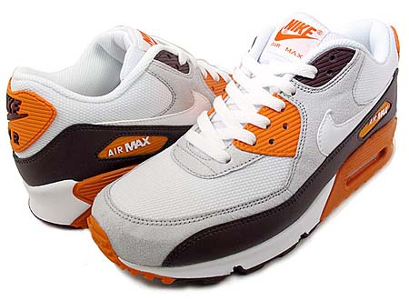 NIKE NIKE AIR MAX 90 [RED MAHOGANY/WHITE/NEUTRAL GREY/ORANGE] 325018-605 画像