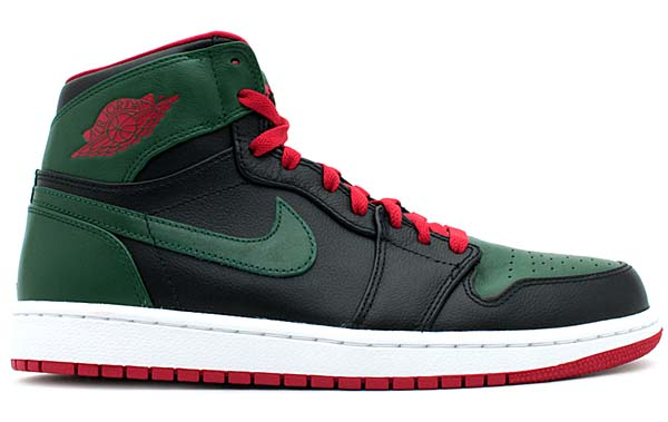 NIKE AIR JORDAN 1 RETRO HIGH [BLACK/GYM RED-GORGE GREEN-WHITE] 332550-025
