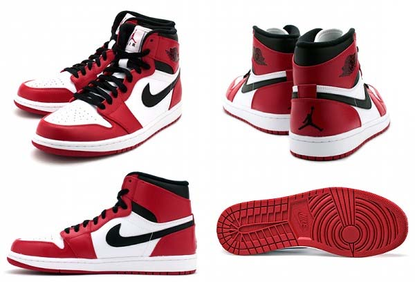 NIKE AIR JORDAN 1 RETRO HIGH [WHITE/VARSITY RED-BLACK] 332550-163