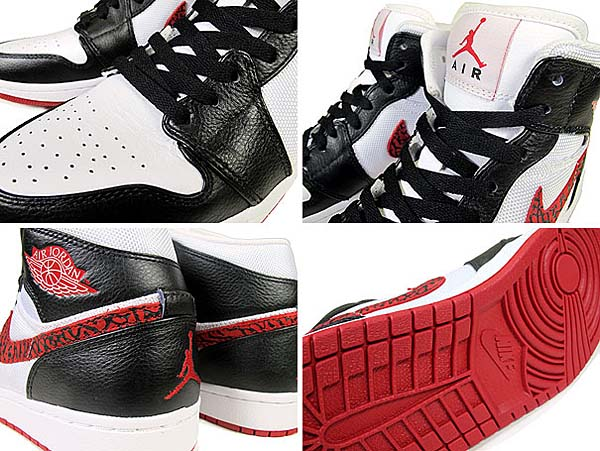 NIKE AIR JORDAN 1 PHAT [WHITE/VARSITY RED-BLACK] 364770-110