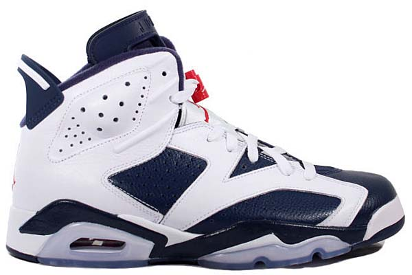 NIKE AIR JORDAN 6 RETRO [WHITE/MIDNIGHT NAVY-VARSITY RED] 384664-130 画像