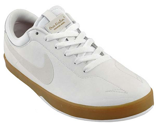 NIKE SB ZOOM ERICK KOSTON ONE [WHITE/SWAN-GUM LIGHT BROWN] 442476-119