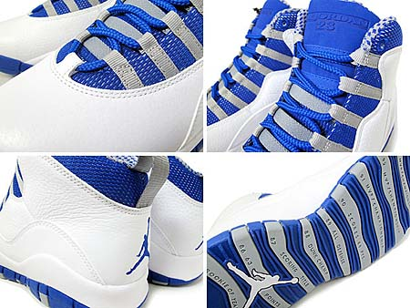 NIKE AIR JORDAN 10 RETRO [WHITE/OLD ROYAL-STEALTH] 487214-107
