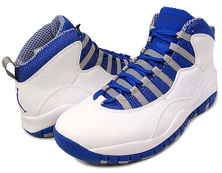 NIKE NIKE AIR JORDAN 10 RETRO [WHITE/OLD ROYAL-STEALTH] 487214-107 画像