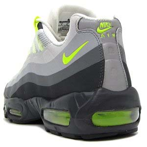 NIKE AIR MAX 95 NO-SEW [ANTHRACITE/VOLT-CLASSIC GREY-WOLF GREY] 511306-040