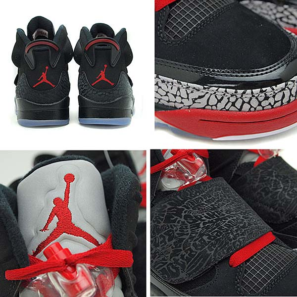 NIKE AIR JORDAN SON OF [BLACK/VARSITY RED-CEMENT GREY-WHITE] 512245-001