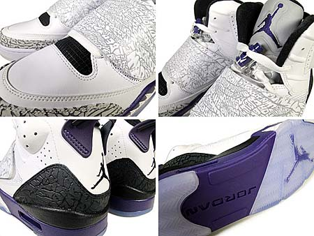 NIKE JORDAN SON OF MARS [WHITE/CLUB PURPLE-CL GREY-BLCK] 512245-106
