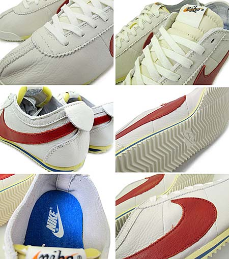 NIKE CORTEZ CLASSIC OG LEATHER VINTAGE QS [WHITE/VARSITY RED-SAIL] 516622-160