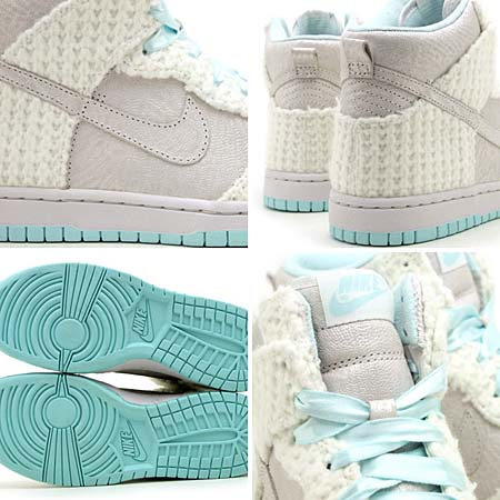NIKE WMNS DUNK HIGH SKINNY TZ [SWAN/SWAN-MINT CANDY] 518523-106