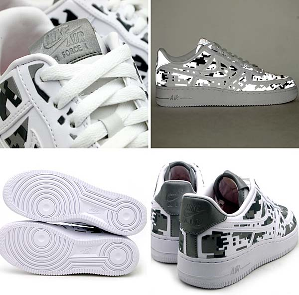 NIKE AIR FORCE 1 LOW PREMIUM 08 QS [WHITE/GREY] 520505-100