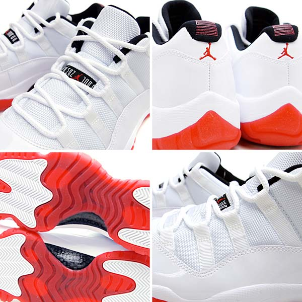 NIKE AIR JORDAN 11 RETRO LOW [WHITE/VARSITY RED-BLACK] 528895-101