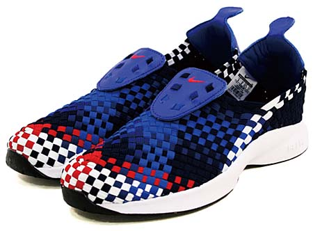 NIKE NIKE AIR WOVEN QS [OBSIDIAN/UNI RED-DEEP ROYAL BL] 530986-460 画像