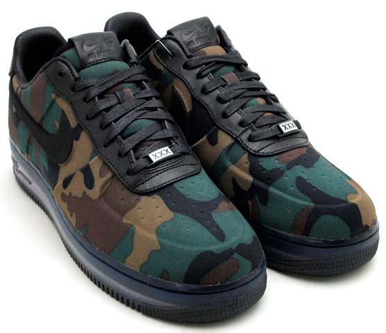 NIKE AIR FORCE 1 LOW MAX AIR VT QS [CAMO/BLACK] 530989-090
