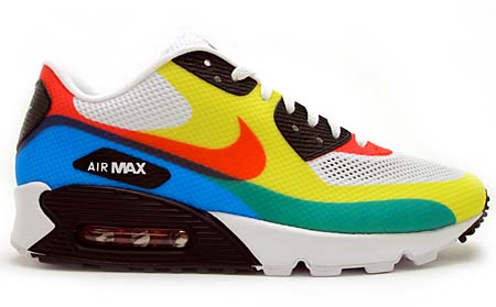 NIKE NIKE AIR MAX 90 HYP PRM QS [WHITE/SPORT RED-SOAR] 532306-160 画像