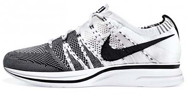 NIKE FLY KNIT TRAINER+ [WHITE/BLACK] 532984-100