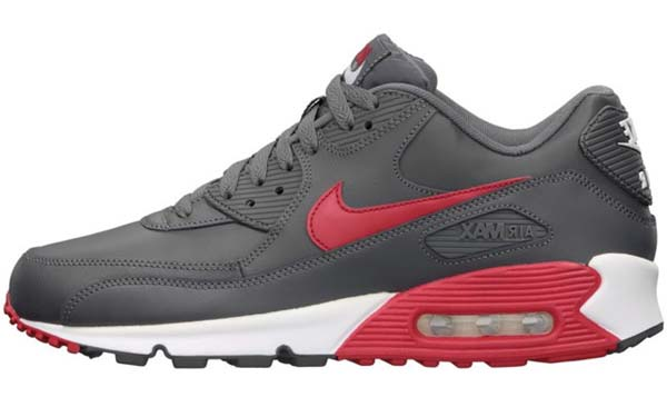 NIKE AIR MAX 90 ESSENTIAL [DARK GREY/UNIVERSITY RED-WHITE-WHITE] 537384-061