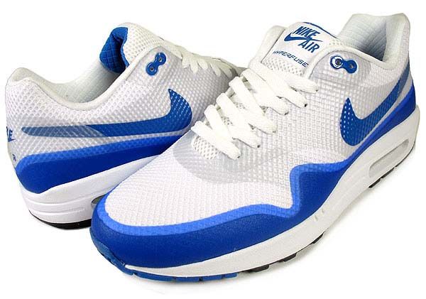 NIKE AIR MAX 1 HYPERFUSE PREM NRG [WHITE/VARSITY BLUE-NTRL GREY] 543435-140