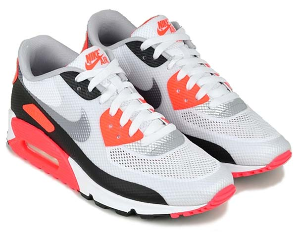 NIKE AIR MAX 90 HYPERFUSE NRG [WHITE/CEMENT GREY/INFRARED] 548747-106