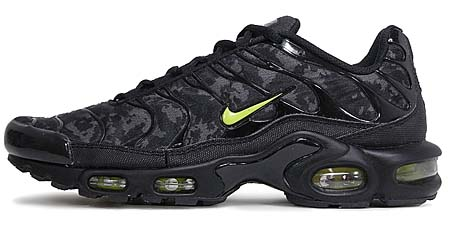 NIKE AIR MAX PLUS [BLACK/HIGH VOLTAGE-DARK GREY] 604133-036