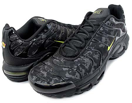 NIKE NIKE AIR MAX PLUS [BLACK/HIGH VOLTAGE-DARK GREY] 604133-036 画像