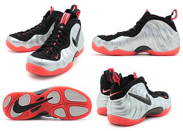 NIKE AIR FOAMPOSITE PRO [METALLIC SILVER / CRIMSON / BLACK] 624041-016