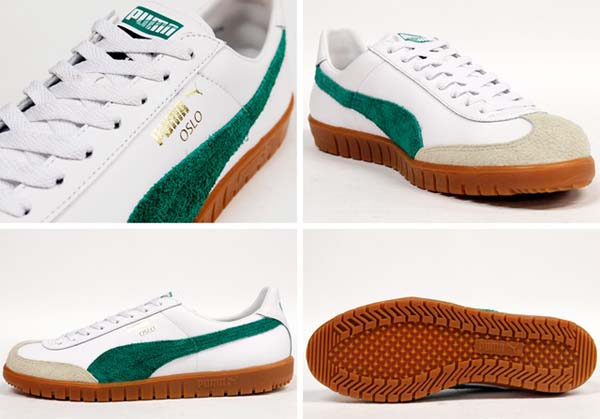 Puma OSLO [WHITE/GREEN/GUM] 354657 画像1