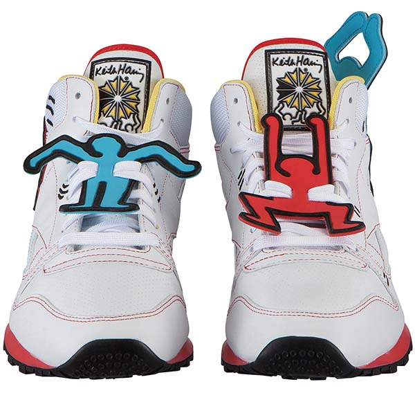 Reebok CL LTHR MID LUX  Keith Haring [WHITE/BLK/TECHY RED/MULTI] V44585 写真1