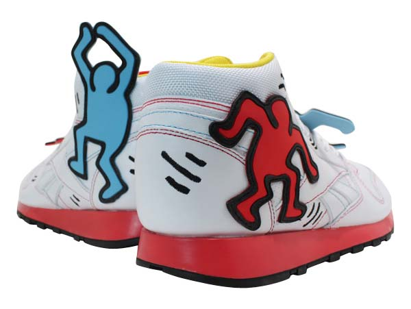 Reebok CL LTHR MID LUX  Keith Haring [WHITE/BLK/TECHY RED/MULTI] V44585 写真2