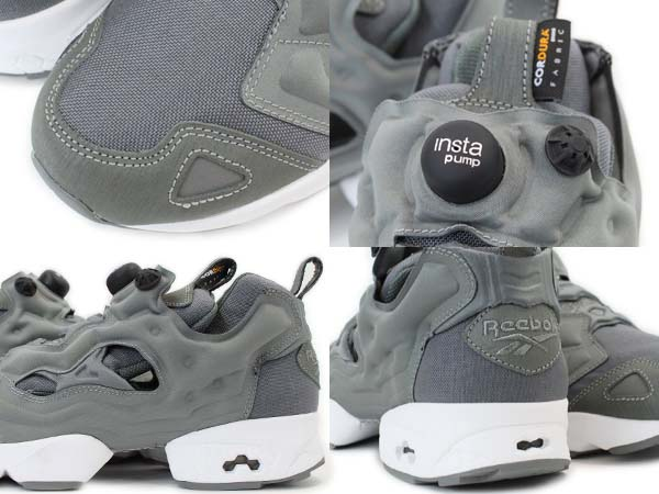Reebok INSTA PUMP FURY CORDURA [GREY/WHITE/BLACK] V46062 写真1