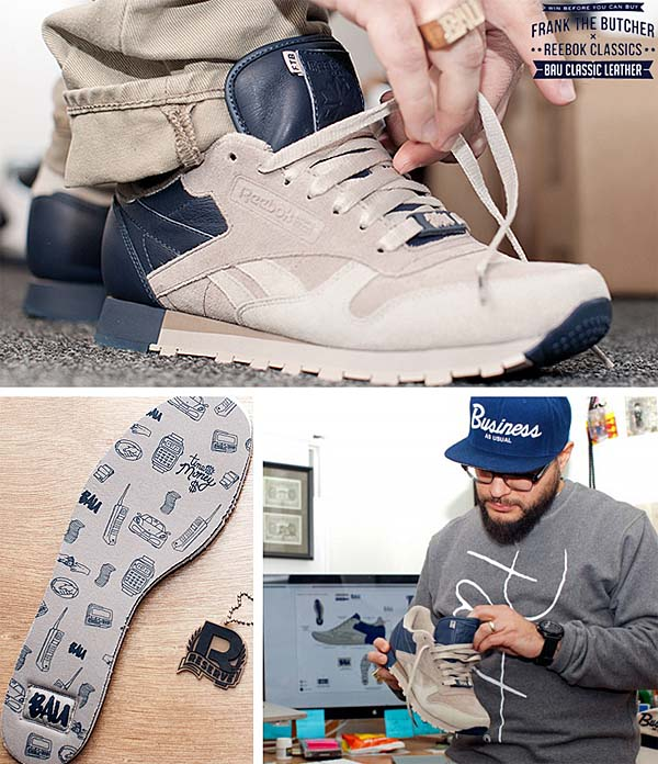 Reebok CL LEATHER LUX FRANK THE BUTCHER [BAU/KHAKI/OYSTER/ATHLETIC NAVY] V47584 写真2