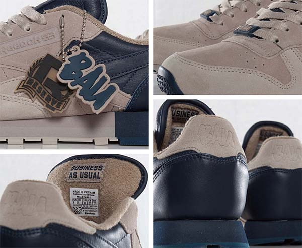 Reebok CL LEATHER LUX FRANK THE BUTCHER [BAU/KHAKI/OYSTER/ATHLETIC NAVY] V47584 写真3