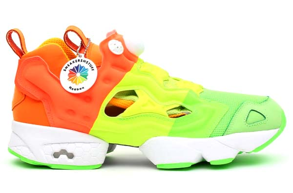 Reebok x Sneakersnstuff PUMP FURY [GREEN/YELLOW/ORANGE/WHITE] V49184 写真1