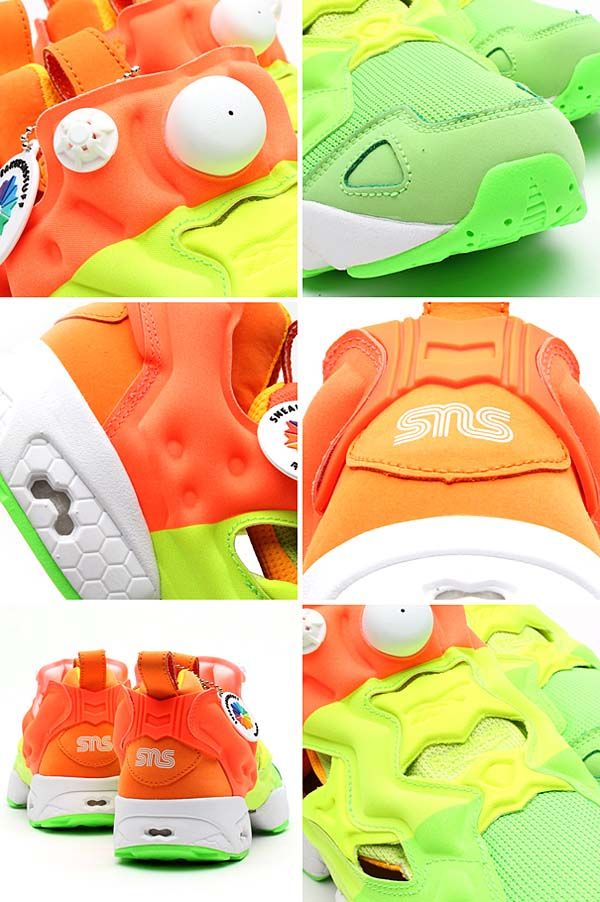 Reebok x Sneakersnstuff PUMP FURY [GREEN/YELLOW/ORANGE/WHITE] V49184 写真2