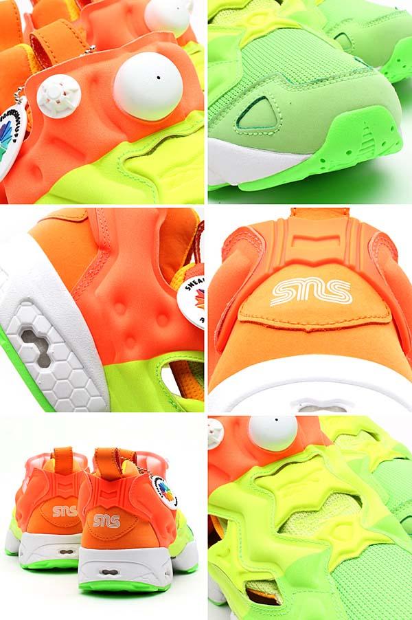 Reebok x Sneakersnstuff PUMP FURY [GREEN/YELLOW/ORANGE/WHITE] V49184 写真2