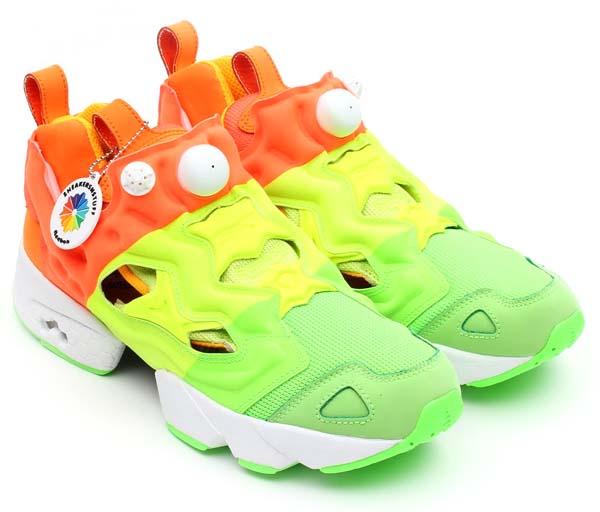 Reebok x Sneakersnstuff PUMP FURY [GREEN/YELLOW/ORANGE/WHITE] V49184