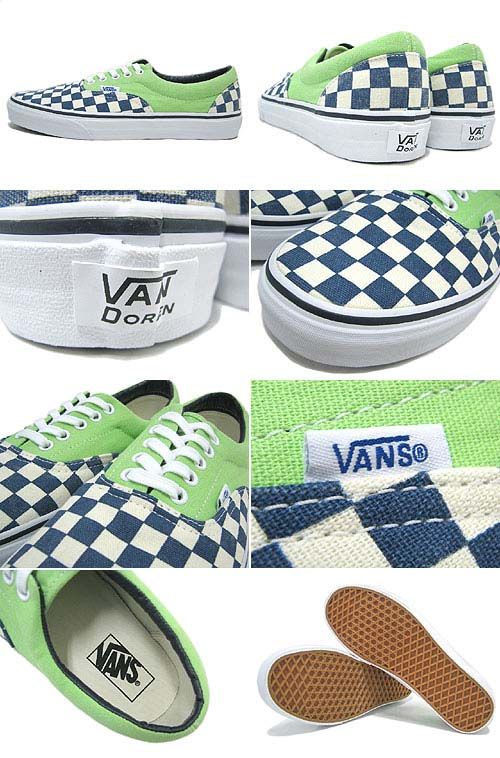 VANS ERA Van Doren [CHECKER/GREEN FLASH] 0QFK7SI 写真1