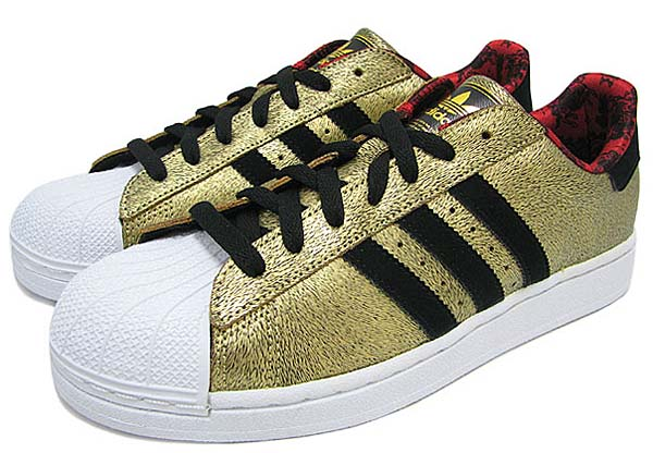 adidas SUPER STAR 2 Chinese New Year Pack 午年 [Metallic Gold/Black/White] D65601