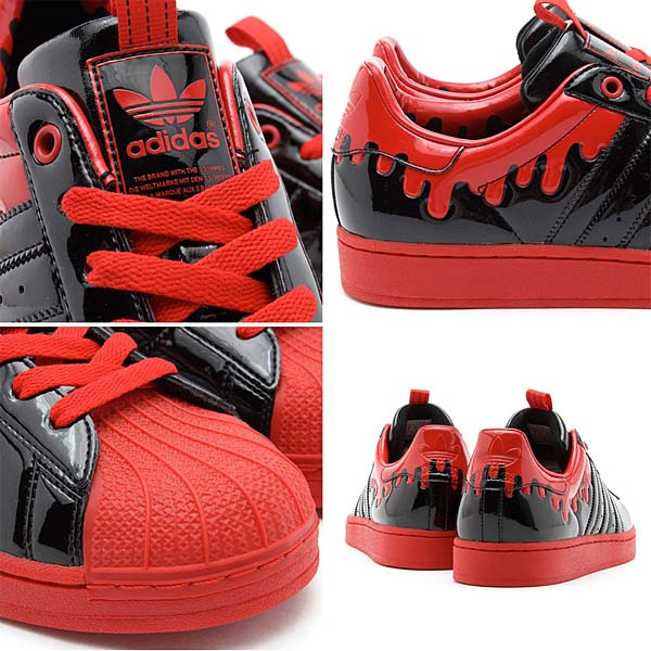 adidas Originals x きゃりーぱみゅぱみゅ SS ENML DRIP [BLACK/BLACK/LIGHT SCARLETT] G28357 写真2