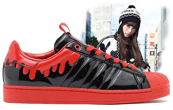 adidas Originals x きゃりーぱみゅぱみゅ SS ENML DRIP [BLACK/BLACK/LIGHT SCARLETT] G28357