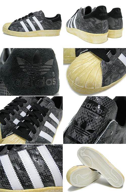 adidas Originals SUPER STAR 80s [BLACK/WHITE DOWN/LEGACY] G95846 写真1