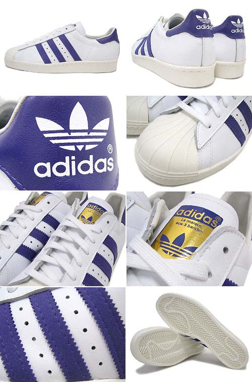 adidas Originals SS 80s [RUNNING WHITE/BLAST PURPLE/CHALK] G95851 写真1