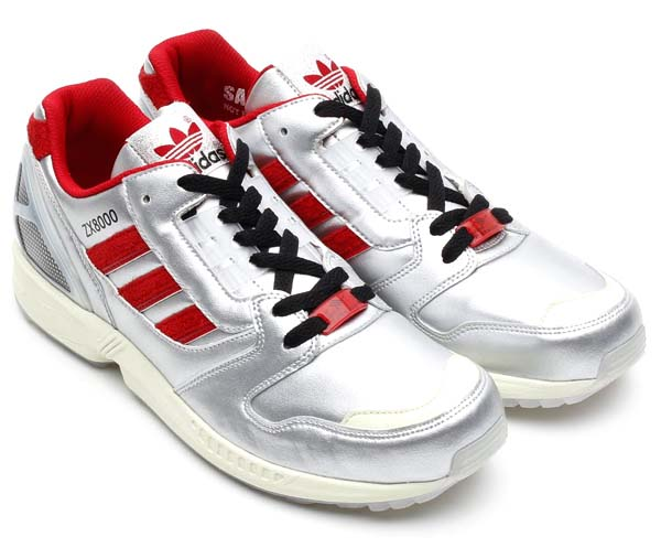adidas Originals for atmos ZX8000 Glow In the Dark [METALLIC SILVER/UNIVERSITY RED/BLACK] M17283