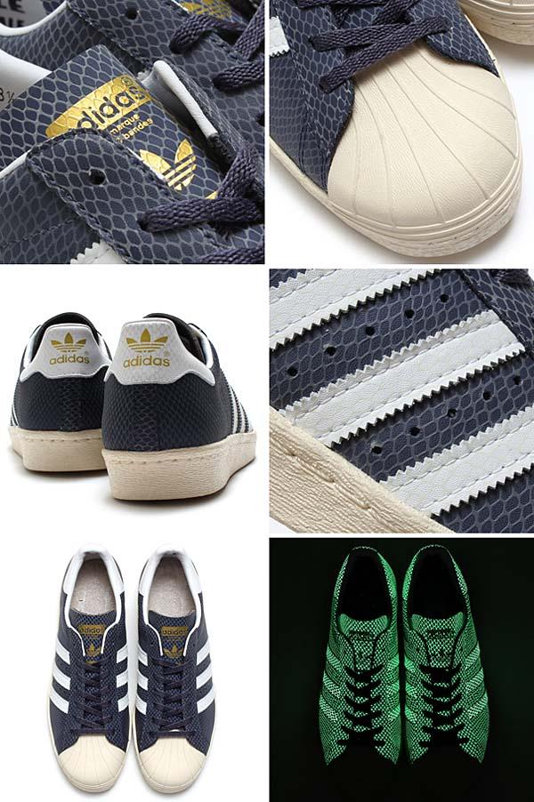 adidas Originals x atmos SS 80s G-SNK 6 [NAVY/WHITE/SNAKE/GLOW] M22303 写真4