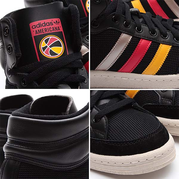 adidas Originals AMERICANA HI 88 [BLACK/SUNSHINE/VIVID RED] Q20354 写真2