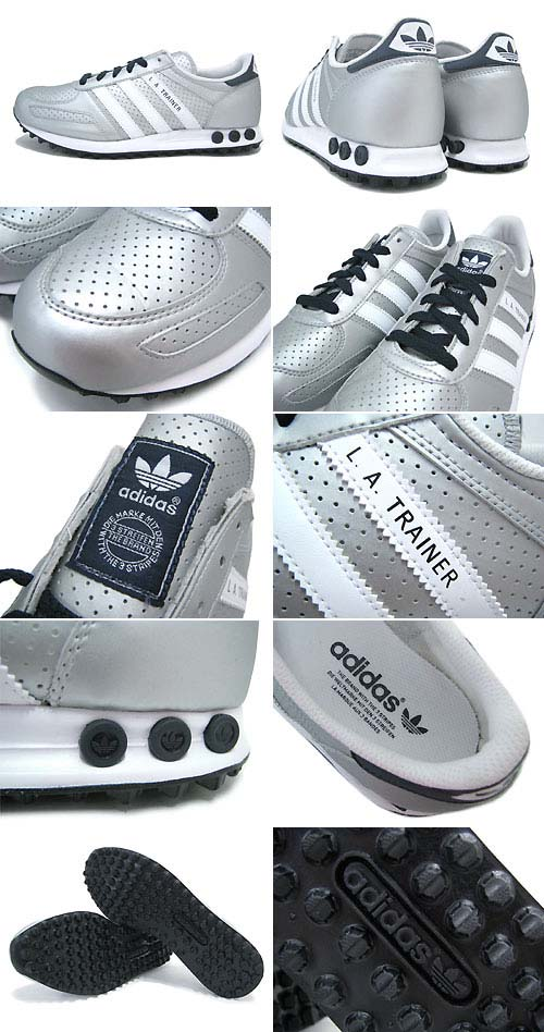 adidas Originals LA TRAINER [Metallic Silver/White/Legend Ink] Q20738 写真1