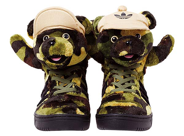 adidas Originals x Jeremy Scott CAMOBEAR [EARTH GREEN/BLACK/SHIFT OLIVE] Q20917 写真1