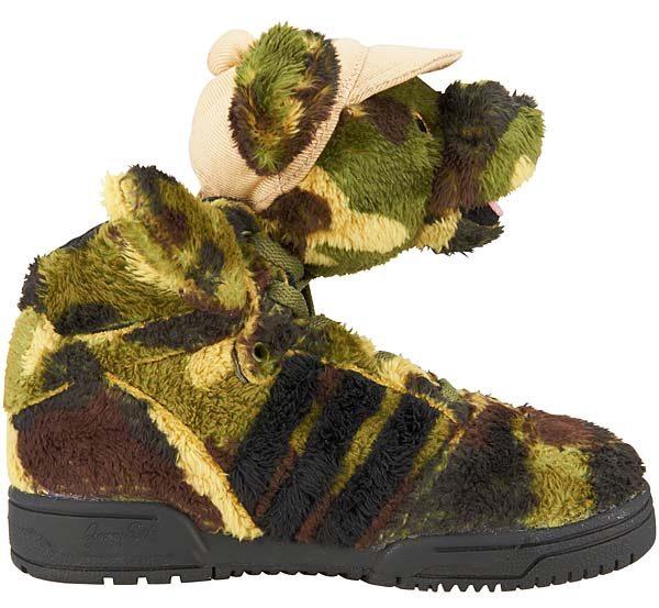 adidas Originals x Jeremy Scott CAMOBEAR [EARTH GREEN/BLACK/SHIFT OLIVE] Q20917 写真2