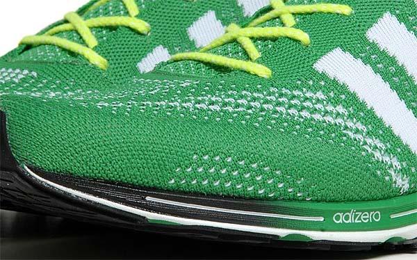 adidas adizero PRIMEKNIT [PRIME GREEN/RUNNING WHITE] Q21791 写真2